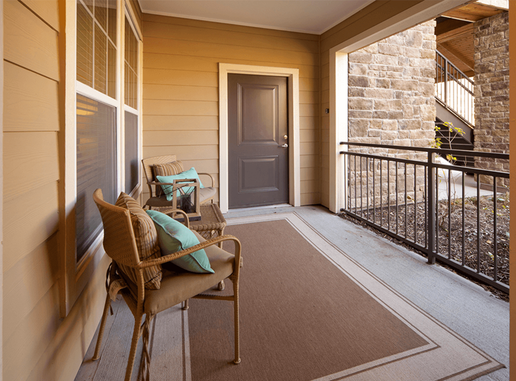 Perry Point model suite patio in Raleigh, North Carolina