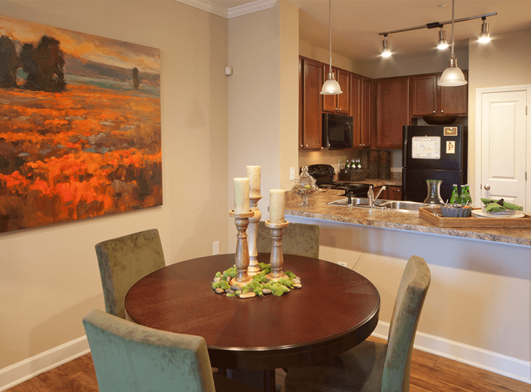 Perry Point model suite dining area in Raleigh, North Carolina