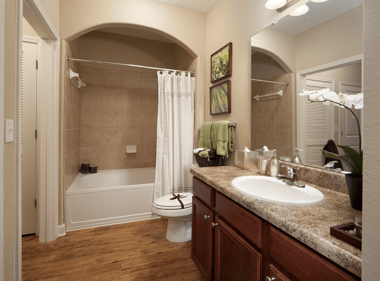 Perry Point model suite bathroom in Raleigh, North Carolina