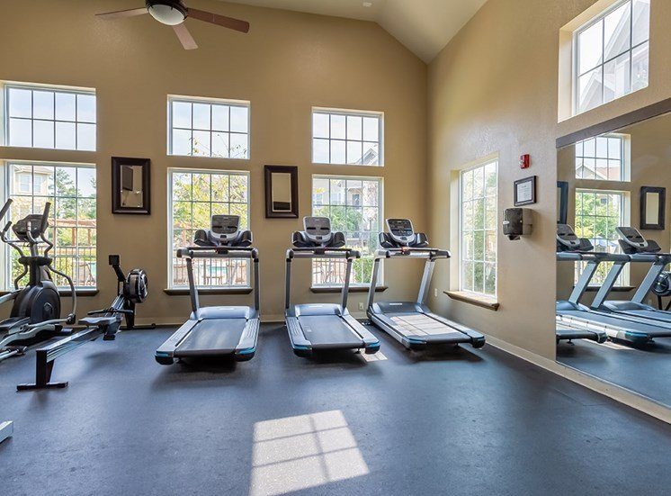 Perry Point apartments fitness center in Raleigh, North Carolina