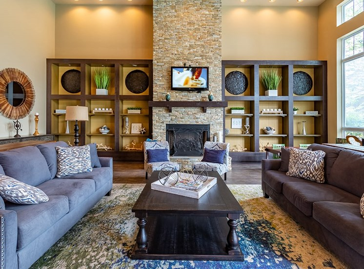 Perry Point apartments clubhouse in Raleigh, North Carolina