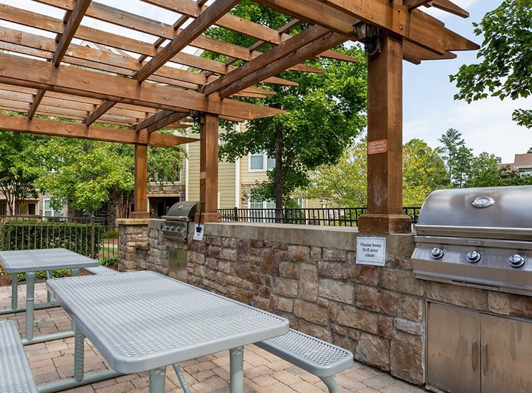 Perry Point apartments BBQ and picnic area in Raleigh, North Carolina