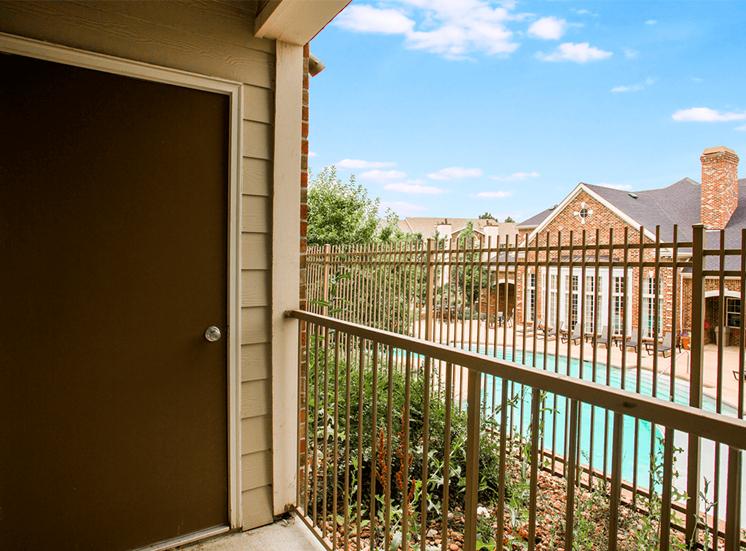 Retreat at City Center model suite balcony in Aurora, Colorado