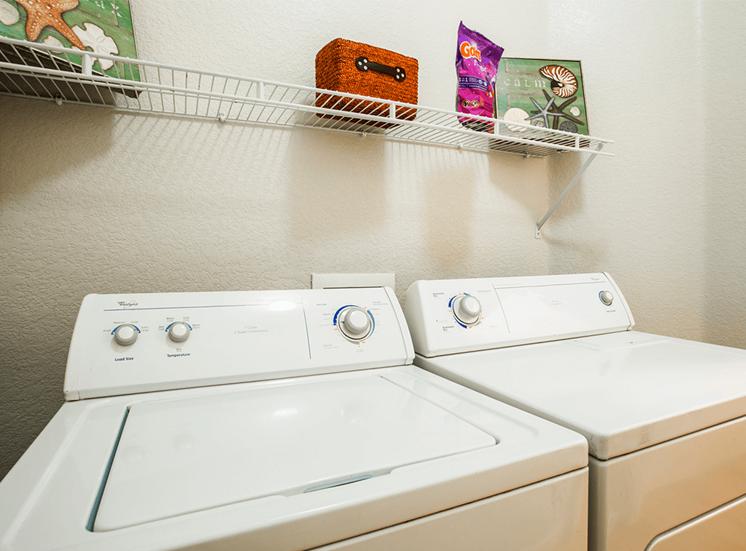 Retreat at City Center model suite utility room in Aurora, Colorado