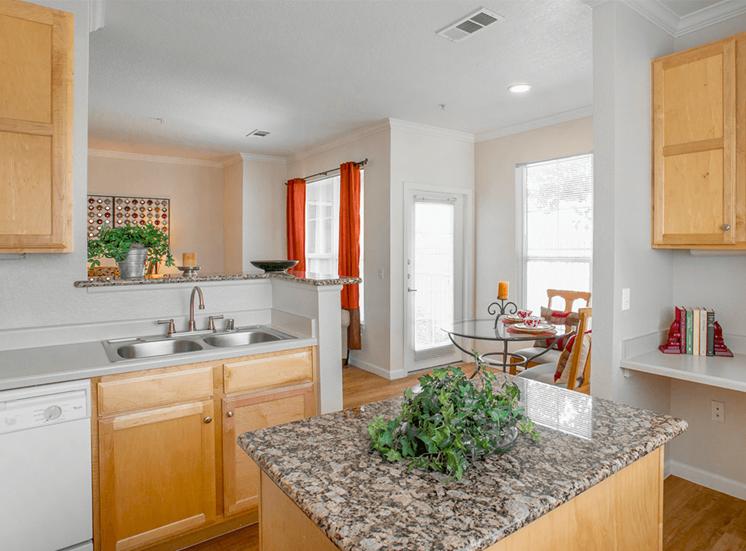 Retreat at City Center model suite kitchen in Aurora, Colorado
