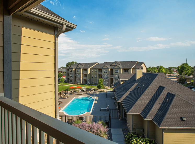 Settlers' Creek apartment balcony view in Fort Collins, Colorado
