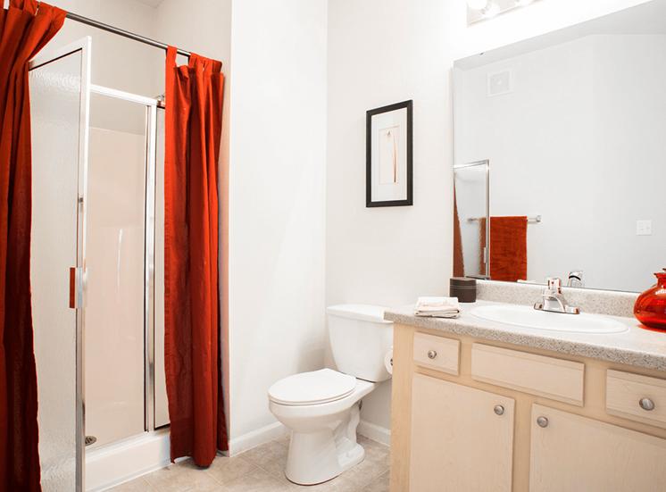 Settlers' Creek model suite bathroom in Fort Collins, Colorado