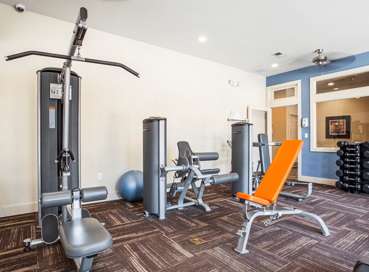 Settlers' Creek apartments fitness center in Fort Collins, Colorado