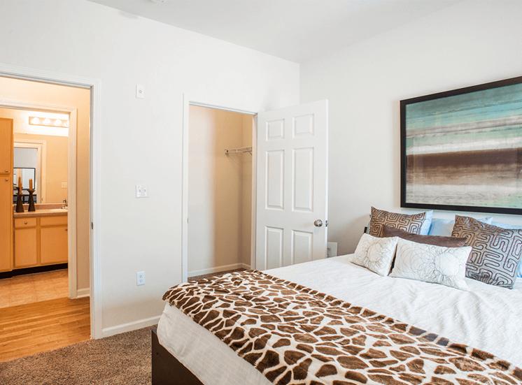 Settlers' Creek model suite bedroom in Fort Collins, Colorado