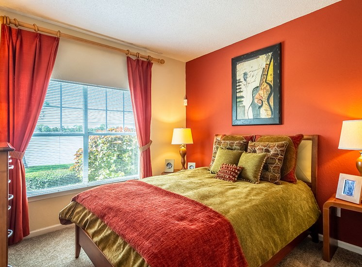Mallory Square model suite bedroom in Tampa, Florida