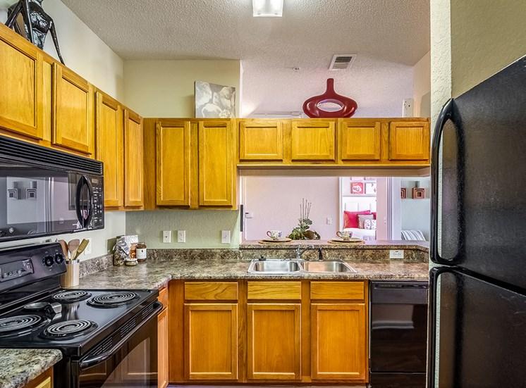 Mallory Square model suite kitchen in Tampa, Florida