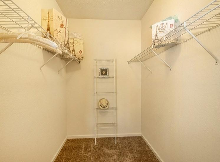 Mallory Square model suite closet in Tampa, Florida