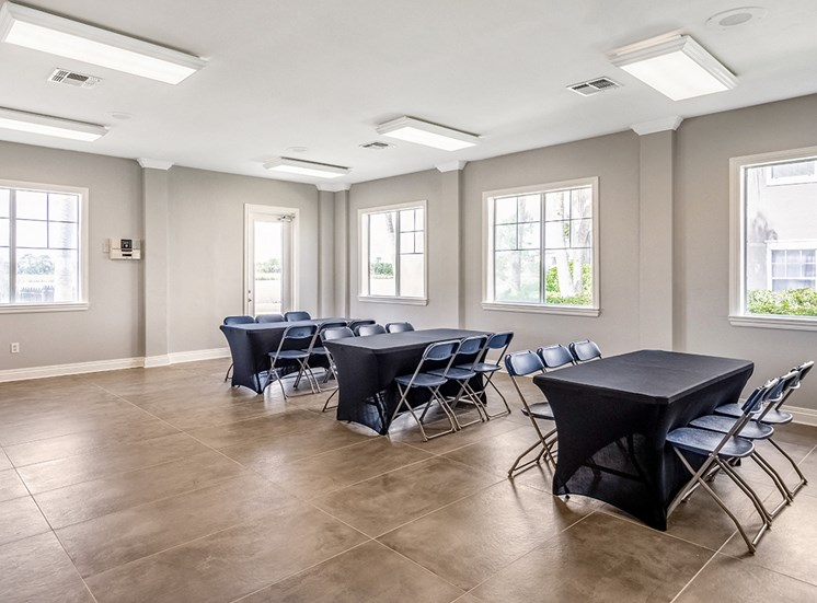 Mallory Square apartments event room in Tampa, Florida