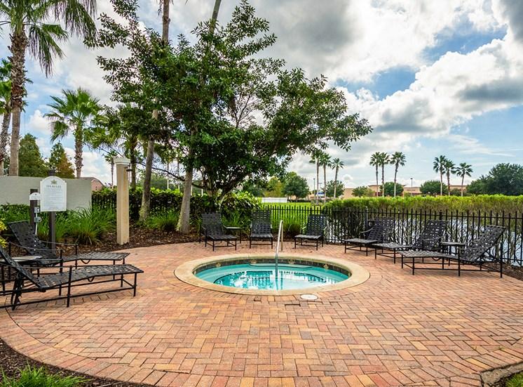 Mallory Square apartments hot tub in Tampa, Florida