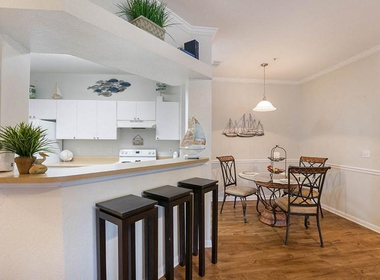 210 Watermark model suite dining area in Bradenton, Florida