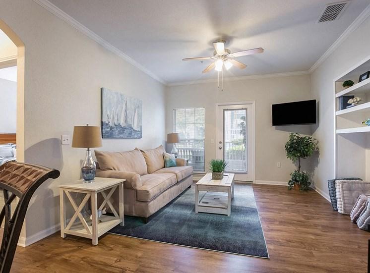 210 Watermark model suite living area in Bradenton, Florida