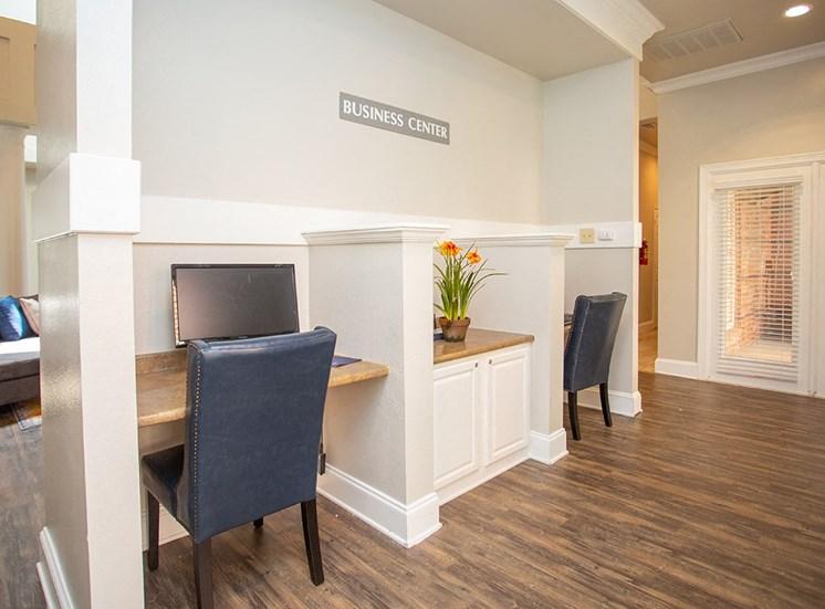 Verandah at Valley Ranch apartments business center in Irving, Texas