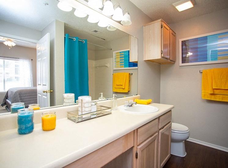 Verandah at Valley Ranch model suite bathroom in Irving, Texas