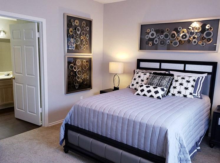 Verandah at Valley Ranch model suite bedroom in Irving, Texas