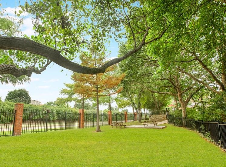 Retreat at Spring Park apartments dog park in Garland, TX