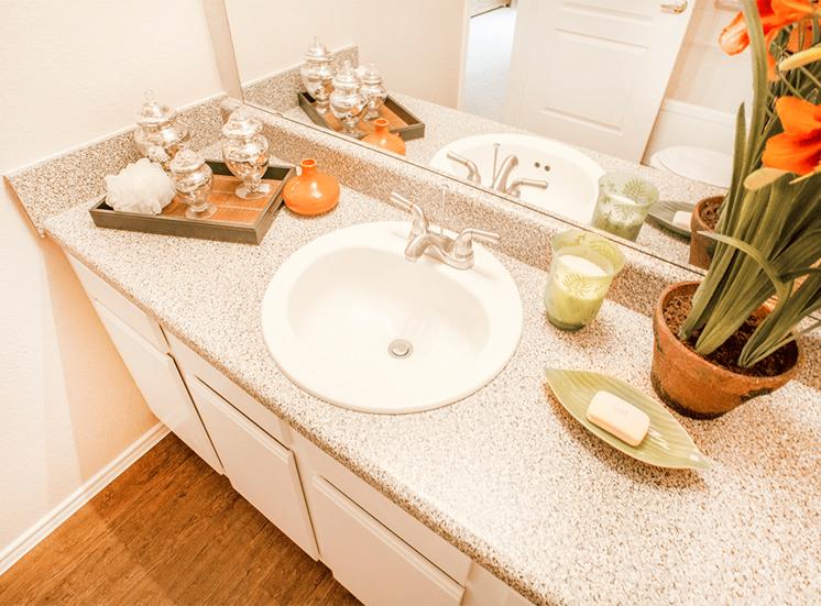 Grand Venetian model suite bathroom in Irving, Texas