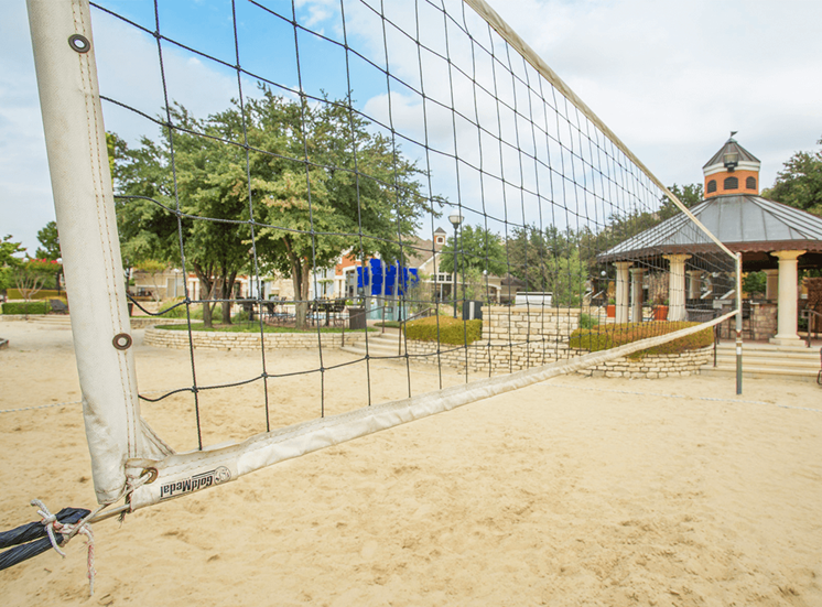 Grand Venetian apartments sand volleyball court in Irving, Texas