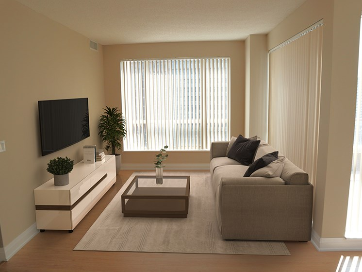 Living Room with Grey Furniture