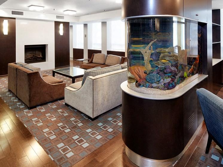 Aquarium in Amenities Lounge