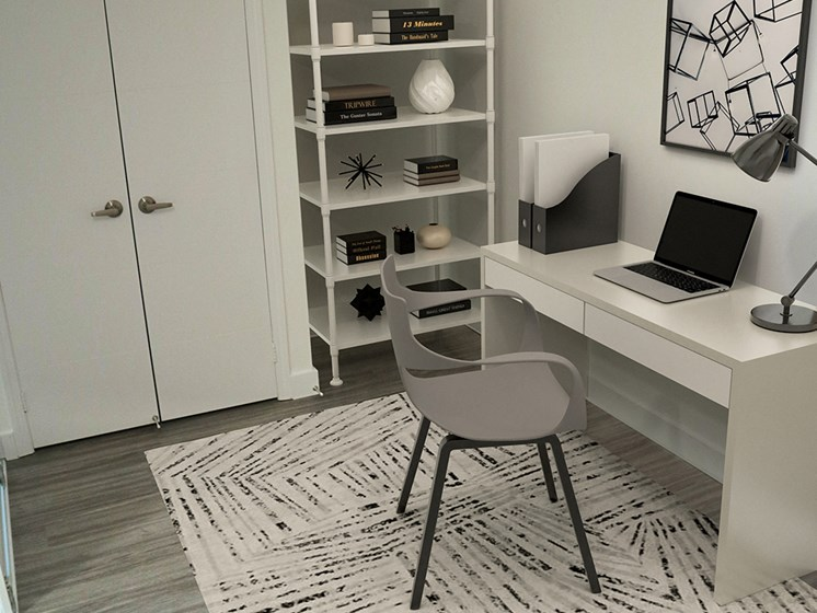 Den With White Furniture