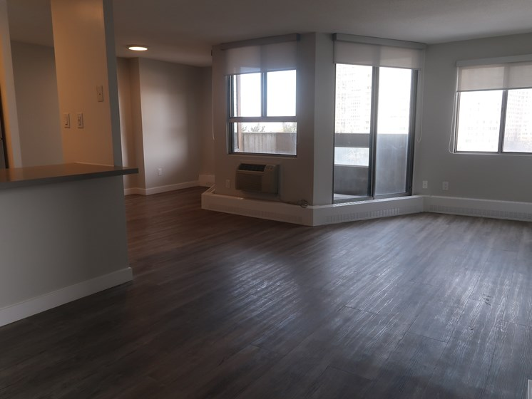 Renovated Living Room with Outdoor Balcony