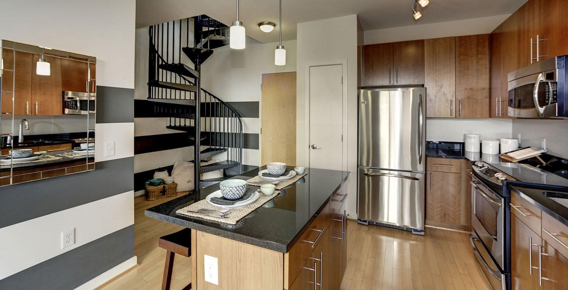 model kitchen - allegro washington DC  apartments