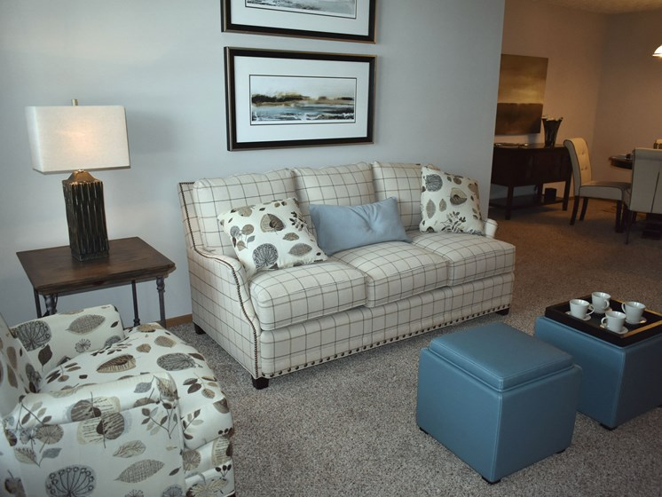 Check out this living room in our 2BR!