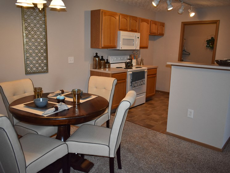 Dine at home in our spacious 2BR apartment dining room!