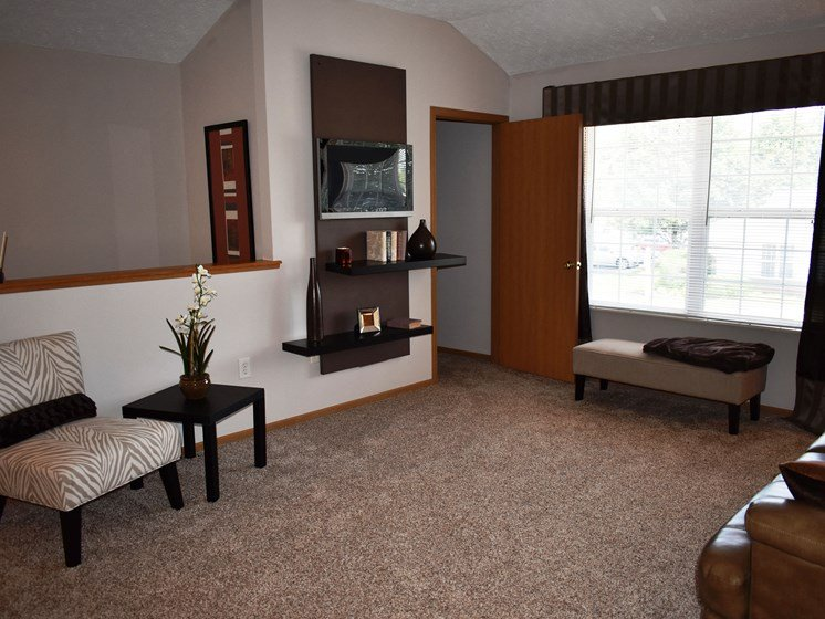 Spacious living room in our 1 Bedroom!