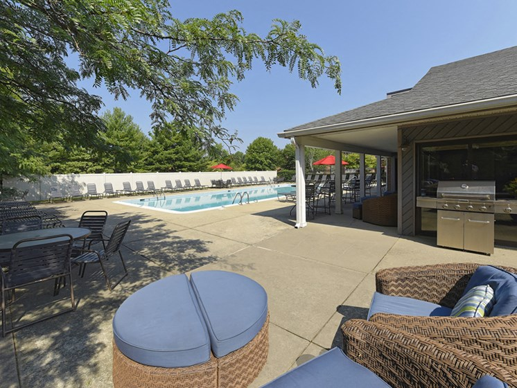 Peaceful Swimming Pool setting at Westwinds Apartments, Annapolis, MD, 21403