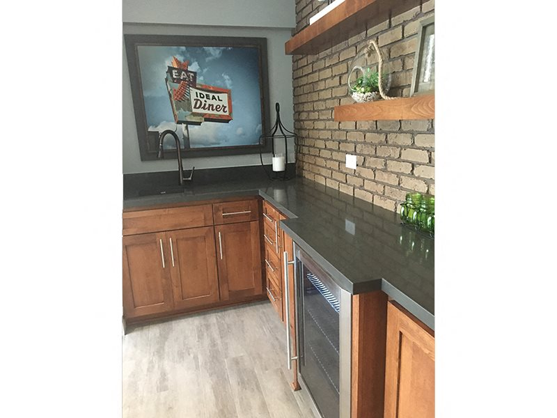 Modular Kitchen at Park West Apartments, Chino, California