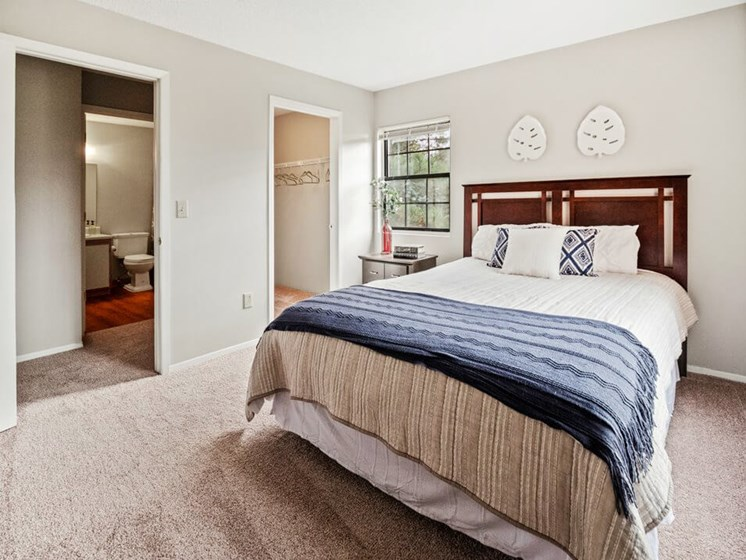 Primary Bedroom at Lancaster Lakes Apartments