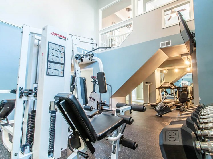 Apartment Fitness Center with Free Weights