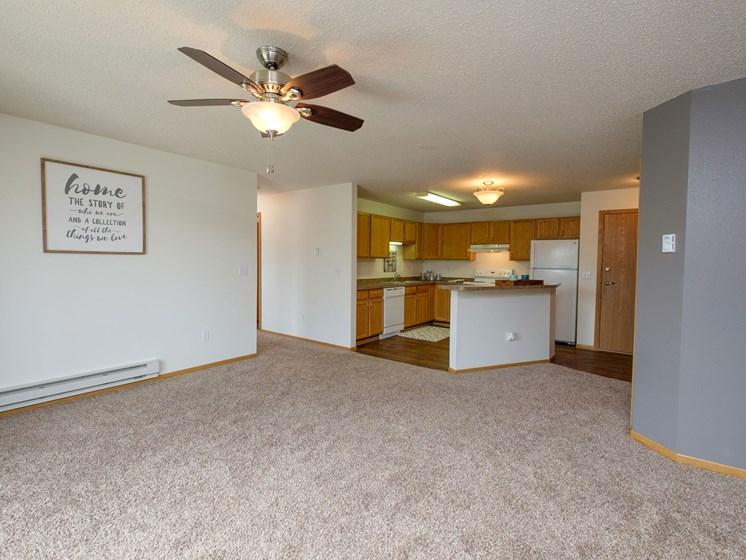 Danbury Apartments | 2 Bdrm-Living Room
