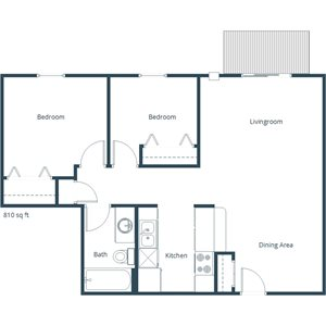 Deer Park Apartments   Two Bedroom Floor Plan A