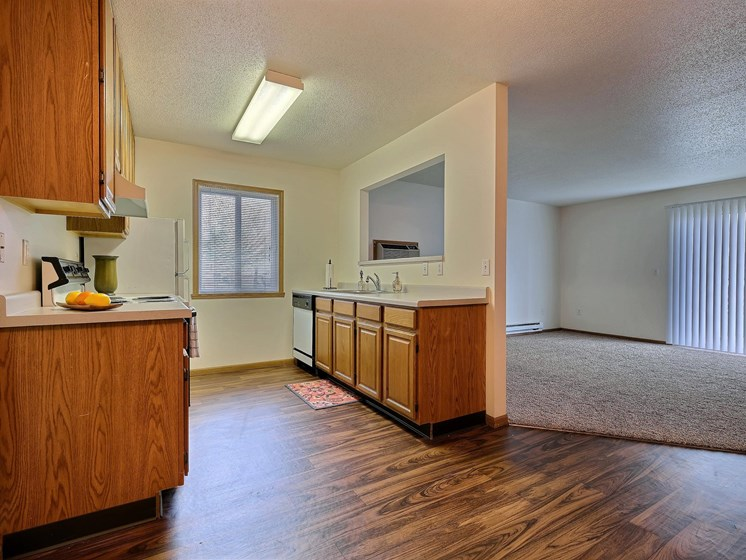 Oxford Apartments | 2 Bedroom | Kitchen | Dining | Living