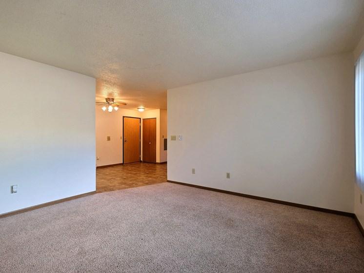 Prairiewood Courts Apartments   2 Bdrm - Living Room