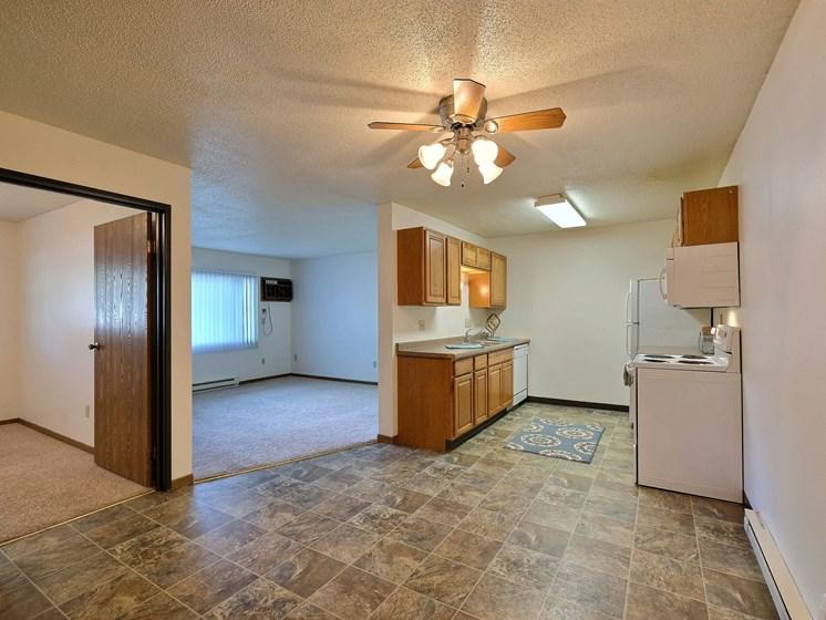 Prairiewood Courts Apartments   2 Bdrm - Kitchen-Dining