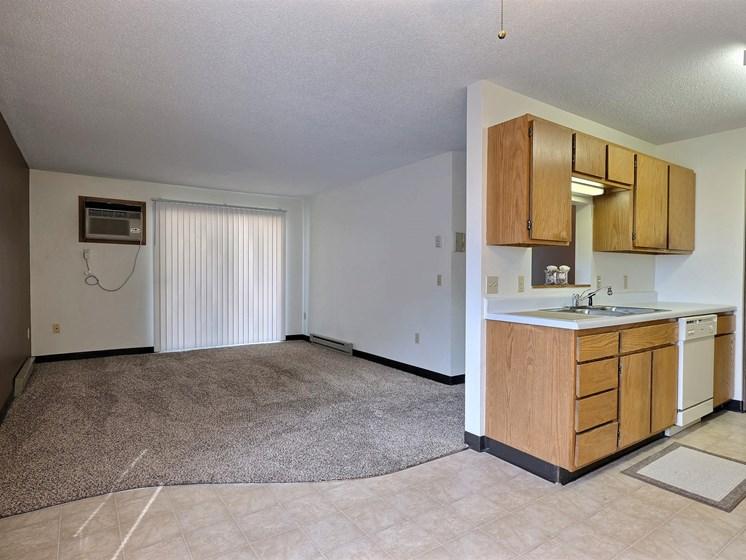 Prairiewood Meadows Apartments | 2 Bdrm - Kitchen-Living