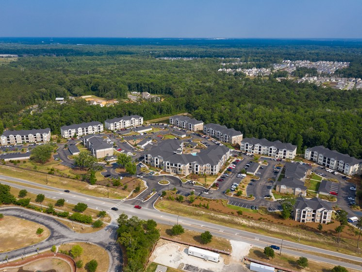 Aerial View Of Apartment at Abberly Crossing Apartment Homes by HHHunt, Ladson, South Carolina