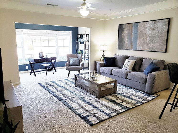 Bay Window For Natural Light at Abberly Grove Apartment Homes by HHHunt, Raleigh, NC