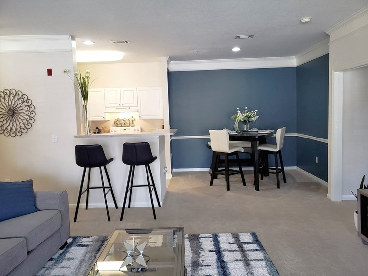 Eat-In Open Kitchen Floorplan at Abberly Grove Apartment Homes by HHHunt,   Raleigh