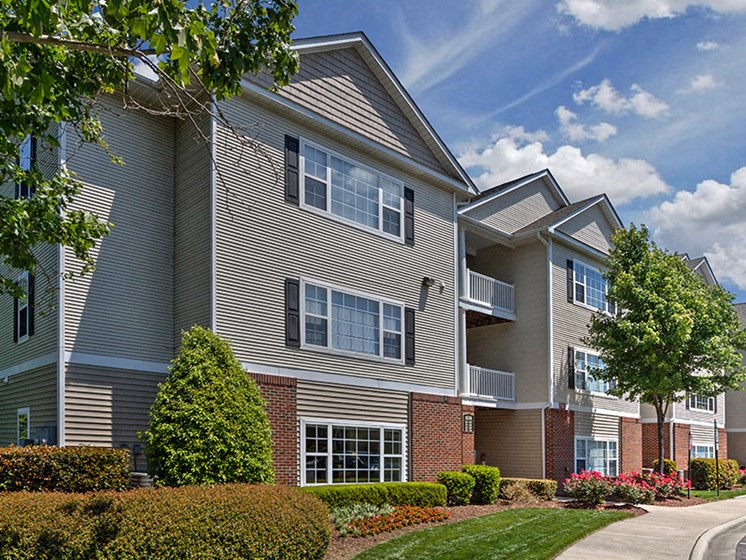 Attached garages available at Abberly Grove Apartment Homes by HHHunt, Raleigh, NC