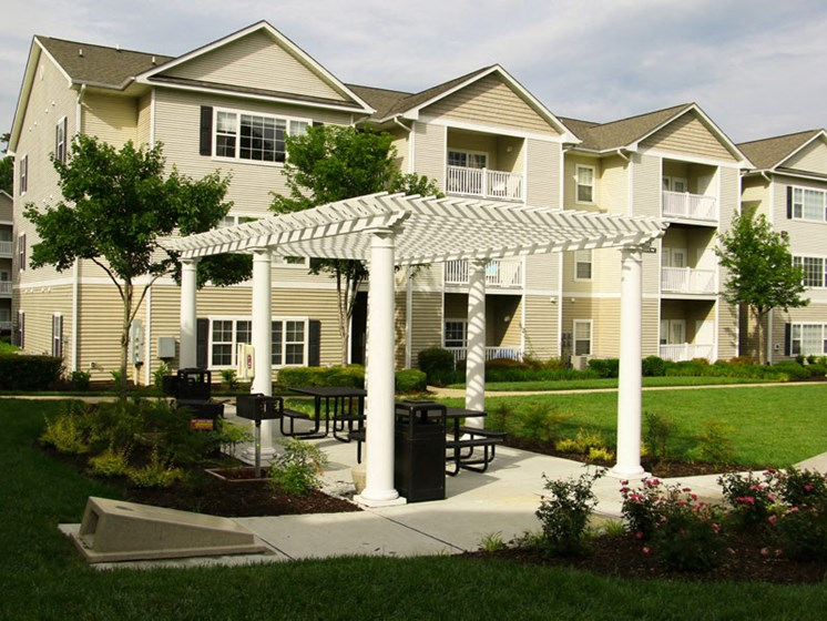 Beautifully Landscaped Groundsat Abberly Grove Apartment Homes by HHHunt, Raleigh North Carolina