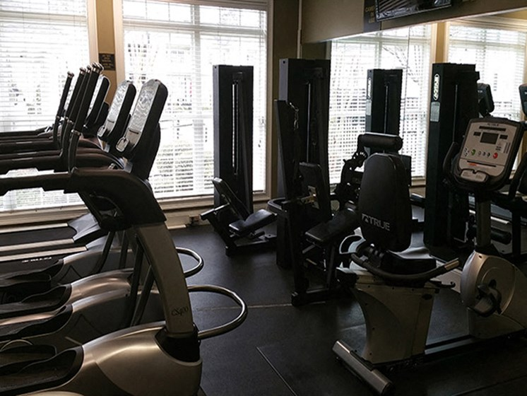 Strength Studio with Free Weights & Cable Machines at Abberly Grove Apartment Homes by HHHunt, Raleigh, NC 27610